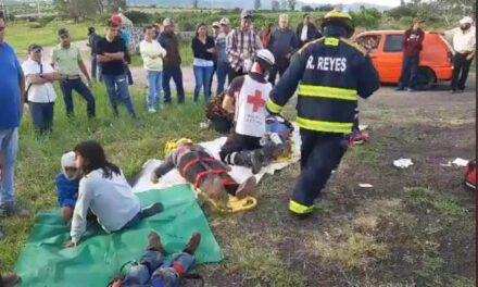 ¡7 lesionados, 3 graves, tras fuerte accidente automovilístico en Aguascalientes!