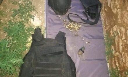 ¡Aseguró PEP en Calera un artefacto explosivo, un chaleco balístico y cartuchos útiles!