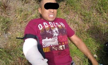 ¡Tras intensa persecución y balacera capturaron elementos de la SSPE a distribuidor de droga!