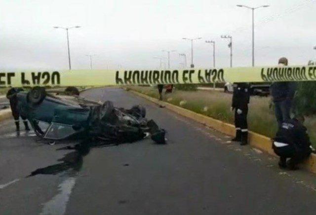 ¡1 muerta y 8 lesionados dejó volcadura de un auto en Guadalupe!