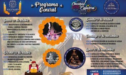 """¡Alistan en Jesús María el festival virtual """"de Chicahual a Calavera 2020""""!"""
