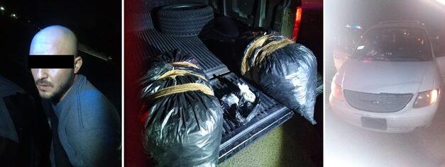 ¡Detuvieron a pareja proveniente de Zacatecas con 12.5 kilos de marihuana en Aguascalientes!