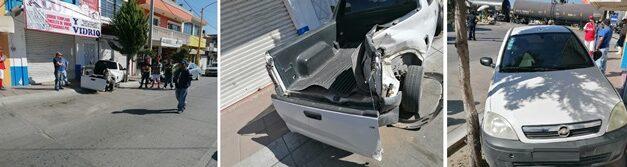 ¡Chofer de camioneta se salvó de morir embestido por el tren en Aguascalientes!