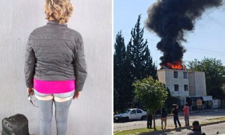 ¡Mujer discutió con su pareja y provocó impresionante incendio en un edificio en Aguascalientes!
