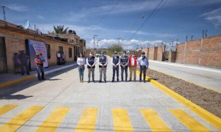 ¡Martín Orozco entrega calles más dignas en Tepezalá y Rincón de Romos en beneficio de 75 mil habitantes!