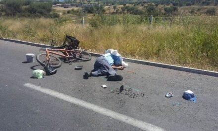 ¡Sexagenario murió tras caer de su bicicleta y golpearse fuertemente contra una carretera en Aguascalientes!
