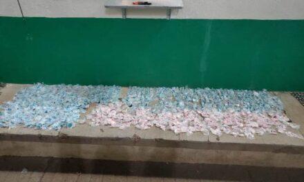 ¡Policía Estatal aseguró más de 2 mil 800 dosis de droga dentro de vehículo abandonado en Calera!
