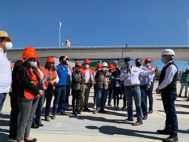 ¡Supervisan gobernador y diputados Distribuidor Vial de Las Américas!