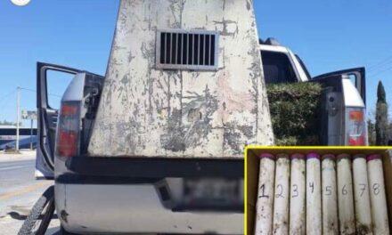"""¡Elementos de la Guardia Nacional detuvieron a sujeto con 14.5 kilos de """"crystal"""" en Villa de Cos!"""