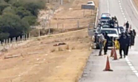 ¡Hallaron a un hombre ejecutado en la autopista en Fresnillo!
