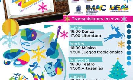 ¡Invita Municipio a talleres culturales en línea con temática navideña!