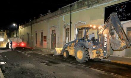 ¡Inició Municipio obras de rehabilitación en la calle Nieto!