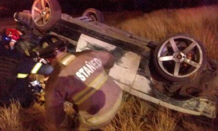 ¡Joven alcoholizado murió tras volcar su automóvil en Aguascalientes!