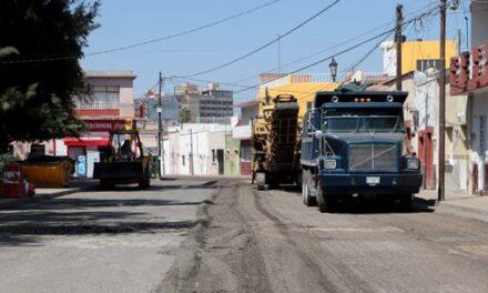 ¡Rehabilita Municipio de Aguascalientes la calle 5 de Febrero!