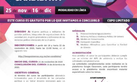 ¡Lanzan curso para candidatas a puestos de elección popular: IEE!