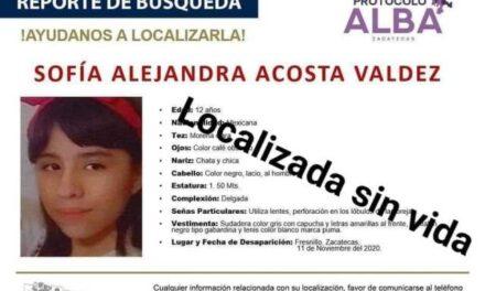 ¡Hallaron torturada y asesinada a la niña Sofía desaparecida en Fresnillo!
