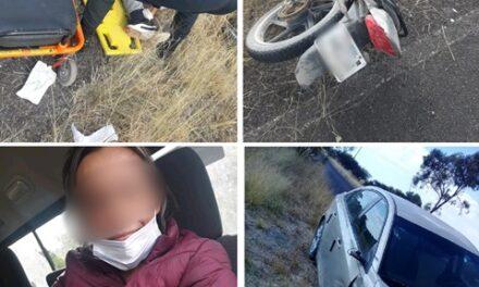 ¡Motociclista sufrió amputación de una pierna tras chocar contra un auto en Aguascalientes!