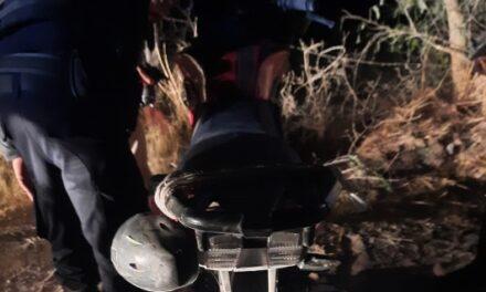 ¡Motociclista murió tras accidentarse en Asientos, Aguascalientes!