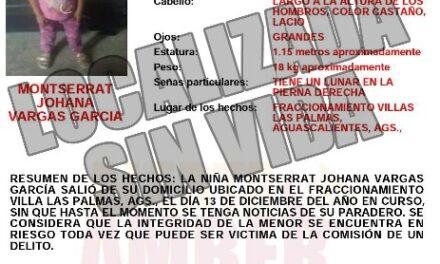 ¡Hallaron muerta a niña de 5 años de edad reportada como desaparecida en Aguascalientes!