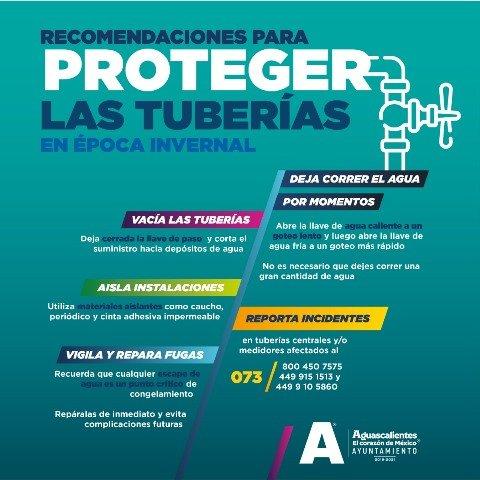 ¡CCAPAMA recomienda proteger tuberías de agua durante época invernal!