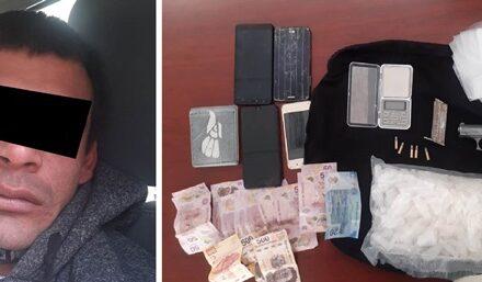 """¡Detuvieron a un narcomenudista con un kilo de """"crystal"""" en Aguascalientes!"""