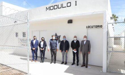 ¡Inaugura MOS nuevo módulo para mejoramiento y modernización del CERESO!