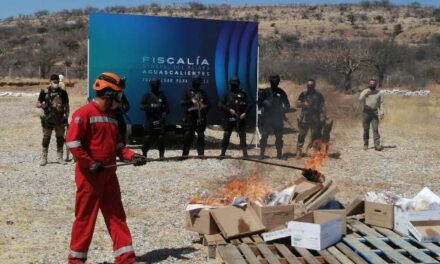 ¡Encabeza fiscal general de Aguascalientes destrucción de narcóticos!
