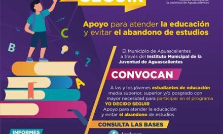 """¡Municipio abre convocatoria """"Yo Decido Seguir"""" para becas de preparatoria, estudios universitarios y posgrado!"""