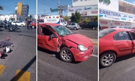 ¡Motociclista se mató tras doble accidente en Aguascalientes!