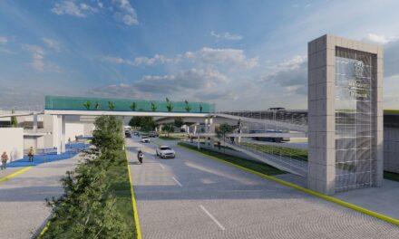 ¡Arranca construcción de tres puentes peatonales sobre avenida Aguascalientes!