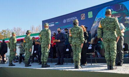 ¡Reconoce Martín Orozco valores de lealtad, solidaridad y servicio del Ejército Mexicano!