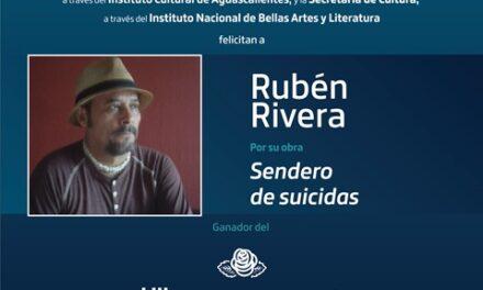 ¡Rubén Rivera gana el Premio Bellas Artes de Poesía Aguascalientes 2021!