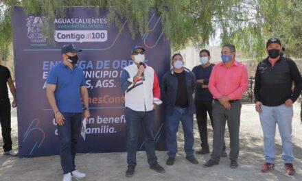 ¡Inaugura gobernador Martín Orozco obras en comunidades de Aguascalientes y Asientos!