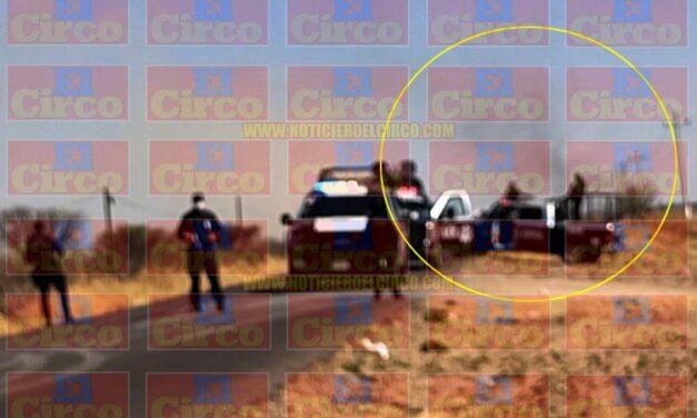 Luego de matar a los policías estatales en Villa de Cos, delincuentes les prendieron fuego