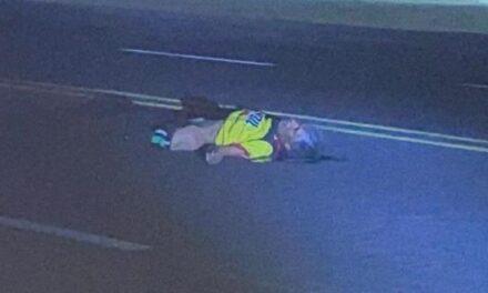 ¡Hombre murió atropellado por un auto debajo de un puente peatonal en Aguascalientes!