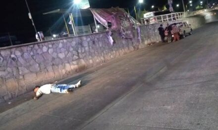 ¡Hombre murió tras caer de una barda de dos metros de altura en Aguascalientes!