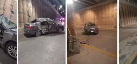 ¡Identificaron al automovilista que murió tras accidentarse en paso a desnivel en Aguascalientes!