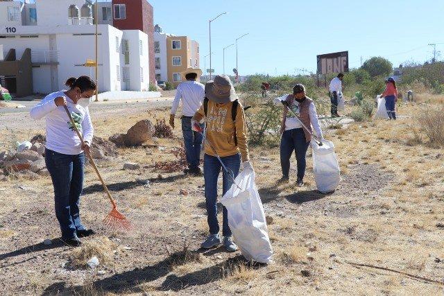 ¡Municipio de Aguascalientes realizó jornada ambiental en el arroyo Morelos!