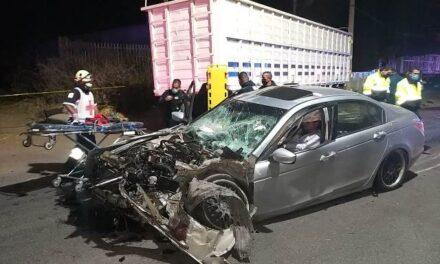 ¡1 muerto y 1 lesionado tras fuerte accidente en Aguascalientes!