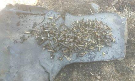 ¡Descubrieron cartuchos útiles escondidos en llantas en un incendio de pasto en Aguascalientes!