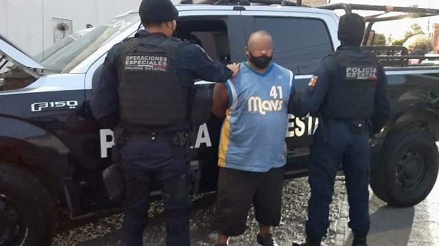 ¡Capturan elementos de la SSPE a presunto distribuidor de droga con 80 envoltorios de cocaína!