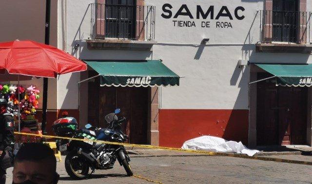 ¡Ejecutaron a un hombre frente a cientos de turistas en el Centro Histórico de Zacatecas!