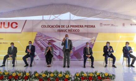 ¡Gobernador asiste a colocación de primera piedra de FANUC México!