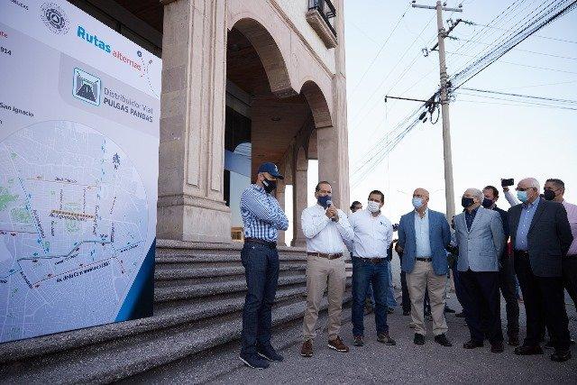 ¡Supervisa gobernador vías alternas para la construcción del Distribuidor Vial de Pulgas Pandas!