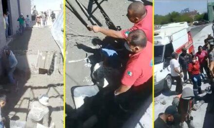 ¡8 albañiles lesionados tras derrumbe en una construcción en Calera!