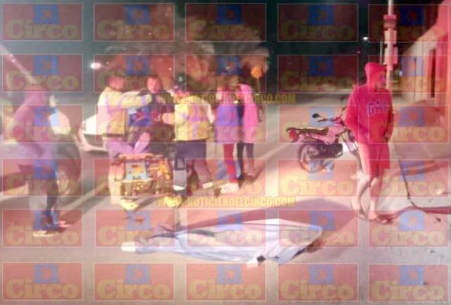 ¡1 jovencita muerta y 1 lesionado tras desigual choque en Lagos de Moreno!