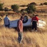 ¡1 muerto y 1 lesionado tras volcadura de un vehículo en Fresnillo!