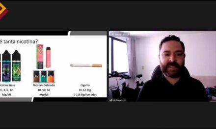 ¡Aumenta el consumo de nicotina a través del uso de dispositivos electrónicos para vapear: Inti Barrientos Gutiérrez!