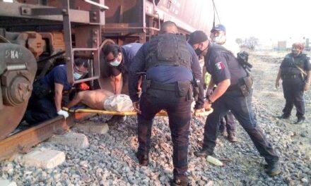 ¡Murió el drogado peatón atropellado por el tren en Aguascalientes!