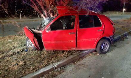 ¡Joven automovilista se mató tras estrellarse contra un árbol en Aguascalientes!